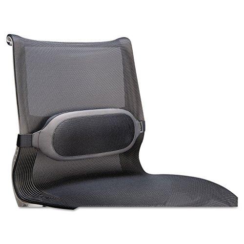Fellowes 9311601 Lumbar Cushion,Foam,Adj.Strap,13-2/5-Inch x6-Inch x2-3/5-Inch,Gray