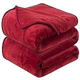 Mantas para Sofa 150x200 cm Rojo ,Mantas para Cama de Franela Reversible,Mantas Ligeras de 100% Microfibra - Fácil De Limpiar - Extra Suave Cálido