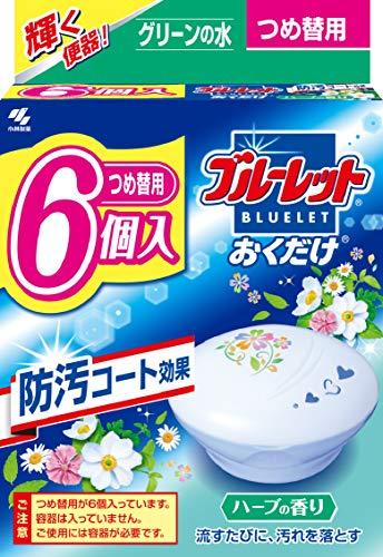 【まとめ買い】ブルーレットおくだけ トイレタンク芳香洗浄剤 詰め替え用 ハーブの香り 25g×6個
