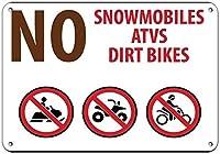 スノーモービルAtvsダートバイクキャンプ場はアルミニウム金属の印に署名しません