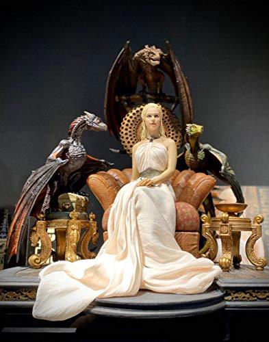 YYSDH Juego de Tronos 1/4 Dragón Dragón Madre Madre Carácter Decoración de la Estatua del dragón + + Trono