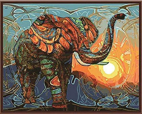 Ollt Puzzles für Erwachsene, Ölgemälde Elefant, Puzzles Puzzles für Erwachsene Kinder Intellektuelles Spiel Lernen Bildung Spielzeug-1500 Stück (87x57cm)