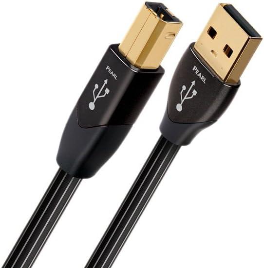 AudioQuest 1.5 m Pearl USB A-B Cable, USB B Male, Black (1.5 m, USB A, USB B, 2.0, Male/Male, Black)