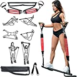 MODEREVE 60-180LBS Pilates Bar Kit with Resistance Bands, Home Squat Bar for Men & Women All-in-one...