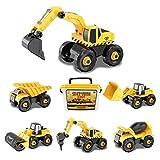 ADULi組み立て 車おもちゃ6+ 建設車両 DIY工事車両 104pcs工事現場シリーズ
