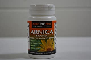 MakeMeHeal Arnica Montana Swelling & Bruising First-Aid Natural Remedy – 30C Strength (100 Tablets)