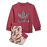adidas GN2219 Crew Set Tracksuit Unisex-Child Top:Wild Pink/Multicolor Bottom:Glow Pink f19/multicolor/white 3-6M
