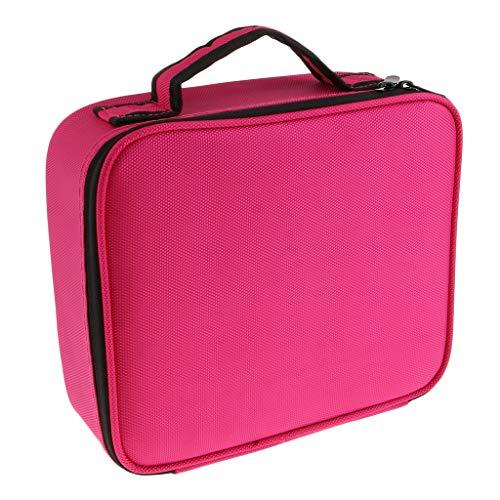 dailymall Trousse De Toilette, Grande Capacité, Multi-étages, Pro, Maquillage - Rouge rosé, S