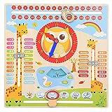 Mothinessto Nuevo Juguete De Aprendizaje para Niños Reloj De Aprendizaje De Juguete Animado para Niños Aprendizaje Preescolar
