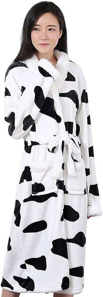 Women Fleece Plush Bathrobe Long Night Autumn Winter for Robe Time Super special price sale X