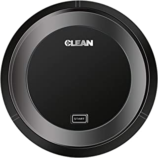 DZT1968 Sweeper Robot Vacuum Cleaner,Intelligent Automatic Vacuum Cleaner, USB Charging, 360° Smart Sensor Protection,Noise Reduction Design, Ultra-Thin Body for Home (Black)