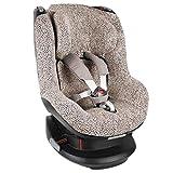 UKJE Fundas de asiento de coche en algodón Oeko-Tex para Maxi-Cosi Tobi hasta 4 años para mantener el asiento de coche de bebé limpio, reducir la sudoración y mantener a su bebé cálido leopardo
