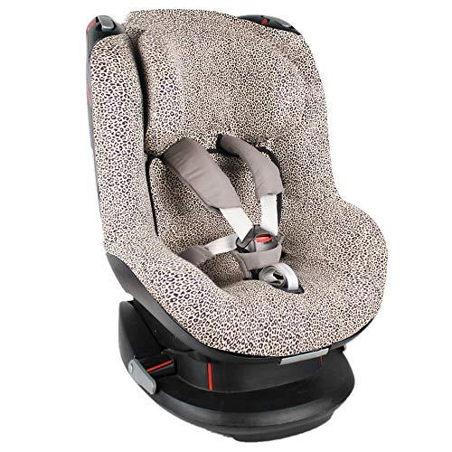 Bezug Maxi-Cosi Tobi Kindersitz Sand Leopardenmuster Öko-Tex 100 Baumwolle Schweißabsorbierend und weich für Ihr Kind Schützt vor Verschleiß und Abnutzung