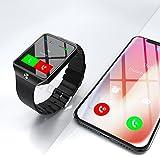 Montre Connectée compatible avec Apple iOS Samsung Android et Windows Bluetooth 4.0 Multi-Fonctions Santé Sport Musique...