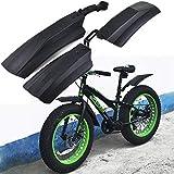 sgfd Garde-Boue de vélo de Neige 20 Pouces 26 Pouces Fat Bike Fender 2pcs Garde-Boue Avant Avant pour vélos VTT Vélo Garde-boues de vélo