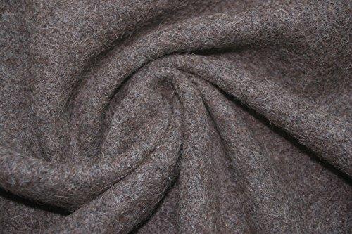 100% Wolle Stoff, Loden, Walkloden Kochstoff, Nicht GEFÄRBT 700g/lfd 140cm breit (100 x 140 cm)