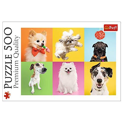 Trefl, Puzzle, Hunde, 500 Teile, für Kinder ab 10 Jahren