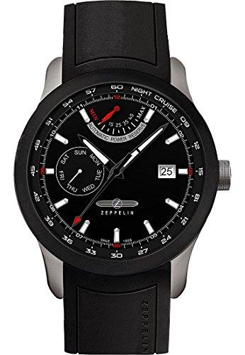 Zeppelin Herren Analog Automatik Uhr mit Kautschuk Armband 72622