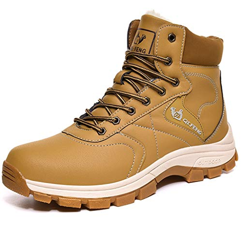 Zpyh Waterproof Hiking Boots Mens Hiking Shoes Non-Slip Trekking Shoes Lace-up Outdoor Shoes for All Season Walking Travelling Backpacking Camping Trekking Biking Christmas Best Gift