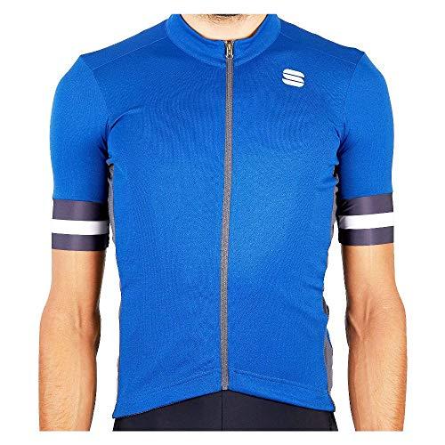 Sportful Maglia Ciclismo Kite Uomo, Blu, XL