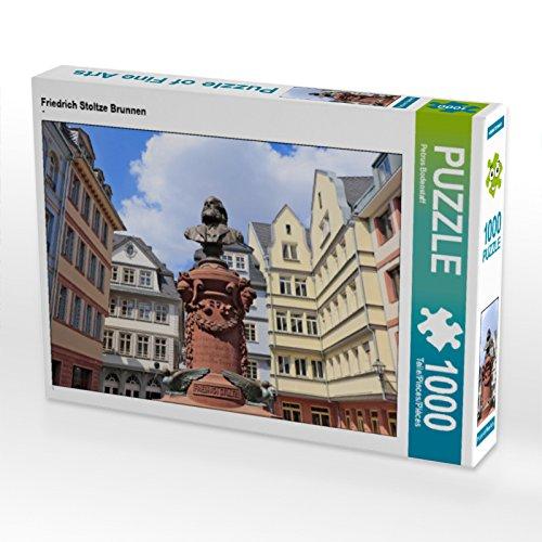 CALVENDO Puzzle Friedrich Stoltze Brunnen 1000 Teile Lege-Größe 64 x 48 cm Foto-Puzzle Bild von Petrus Bodenstaff