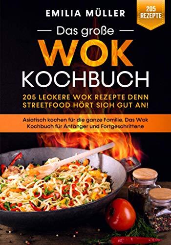 Das große Wok Kochbuch – 205 leckere Wok Rezepte denn Streetfood hört sich gut an!: Asiatisch kochen für die ganze Familie. Das Wok Kochbuch für Anfänger und Fortgeschrittene