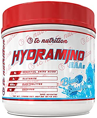 Hydramino Essential Amino Acids (45 Servings) - BCAAs/EAAs Supplement Powder - with Glutamine and Electrolytes for Max Recovery, Energy and Hydration Fuel