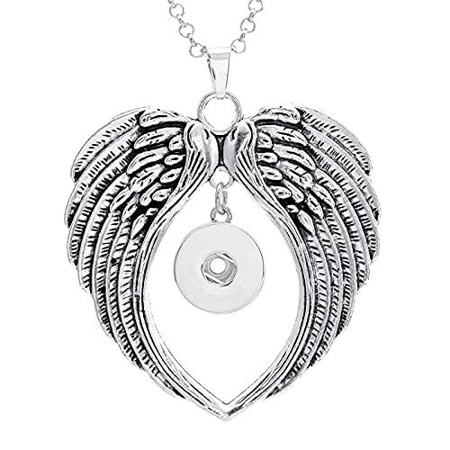 U/D Nuevo Collar de joyería a presión con Diamantes de imitación de Cristal Flor búho 18mm Collar a presión DIY joyería Colgante Regalo de Fiesta