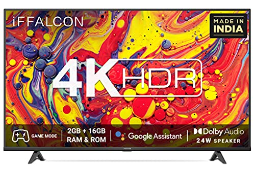 iFFALCON 108 cm (43 inches) 4K Ultra HD Certified Android Smart LED TV 43U61 (Black) (2021 Model)