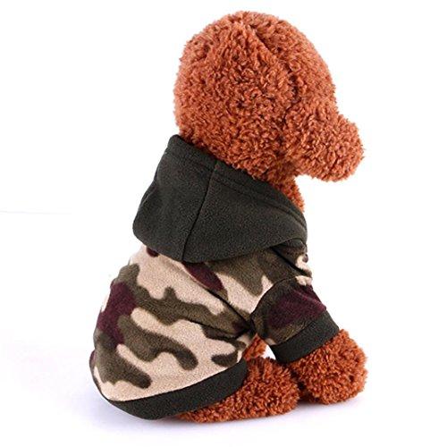 RETUROM Ropa para Mascotas Sudadera con Capucha Camuflaje suéter Perrito Ropa de Invierno (Camuflaje, L)