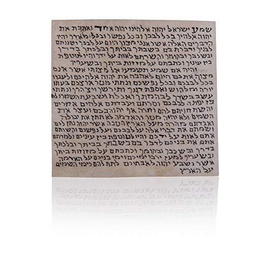 "Biblical World Kosher Mezuzah Scroll. Klaf Mezuza Parchment, 100% Kosher by Israel Ranninot. Hand-Written by a ""Sofer Stam"". Made in Israel & Proofreader Expert Certified Judaica. 2.8 x2.8 inches"