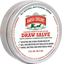 Drawing Salve Ointment 2 fl oz, Boil Treatment, Anti fungal Cream, Itch Cream, Draw Salve for Splinters, bee stings, Poison Oak & Ivy, Skin Irritation, Dry Skin, cuts & Burns, by Amish Origins