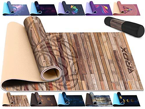 RDX Tappetino Yoga TPE 6mm Antiscivolo Fitness Pilates e Ginnastica Mats Eco Friendly Senza Latex Reach RoHS Certificato con Cinturino di Tracolla Esercizi Tappeto per Palestra Allenamento 183 X 61CM
