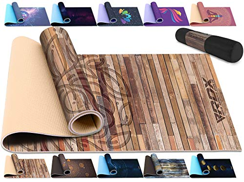 RDX Yoga mat Non-Slip Exercise mat Pilates mat Exercise mat for Fitness Pilates and Gymnastics with Shoulder Strap, Stretching mat for Training, Aerobics, Bodybuilding, SGS Reach Certified 183cmx61cm