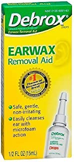 Debrox Earwax Removal Aid Drops, 2 Count