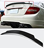 Cuztom Tuning Fits for 2008-2014 Mercedes Benz W204 C250 C300 C63 Carbon Fiber High Kick C74 Style Trunk Spoiler Wing