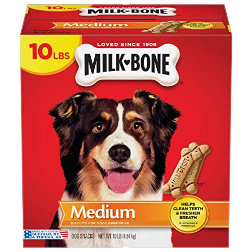 Milk-Bone Original Dog Treats Biscuits for Medium Dogs, 10 Pounds