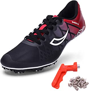 new arrival 822bc fee62 Ifrich Mens Womens Boys Girls Spikes Athletics Racing Running Shoes Track  and Field Sneaker
