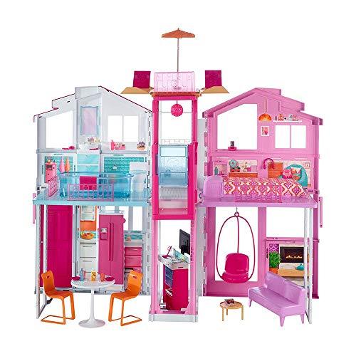 Barbie - Supercasa - casa muñecas, regalo para niñas y niños 3-9 años (Mattel DLY32)