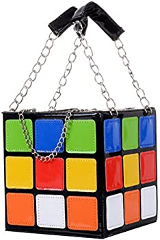 QZUnique Women's Cute Cube Shape Magic Shoulder Bag