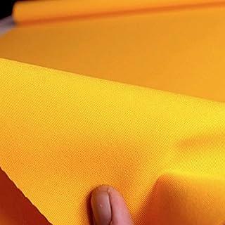 Baumwollstoff Segeltuch mittelschwer - Polsterstoff/Möbelstoff als Meterware am Stück Gelb