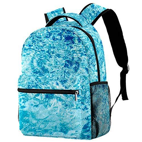 Mochila de las olas del mar Mochila de la escuela, bolsa de libro casual para viajes, motivo 2 (Multicolor) - bbackpacks004