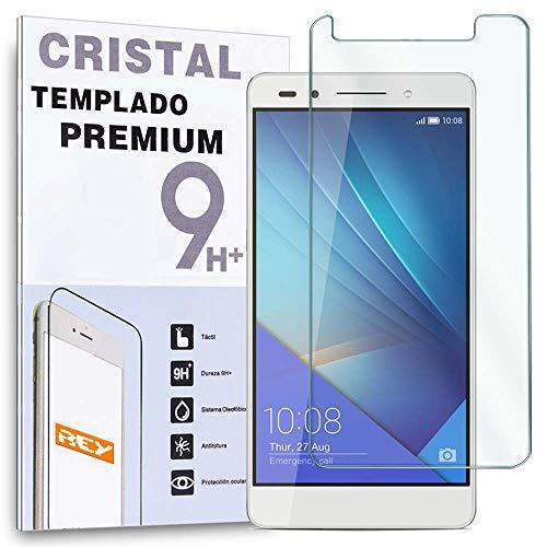 REY Protector de Pantalla para Huawei Honor 7Cristal Vidrio Templado Premium