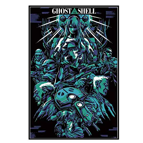 chtshjdtb Ghost in The Shell Fighting-Japan Anime Hot-Movie Art Poster Pittura Stampa Soggiorno Decorazione della casa -50X70 CM Senza Cornice 1 Pz