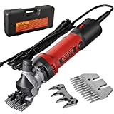 MTWTFSS Electric Professional Sheep Shears,6 Speed Sheep Clippers 550W Animal Shearing Machine,Heavy Duty Farm Livestock Grooming Kit for Shaving Fur Wool in Sheep, Goats,Large Thick Coat Animals