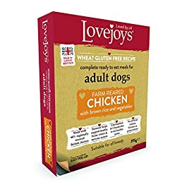 Lovejoys Adult Chicken with Rice and Vegetables Dog Food Tray, 395 g