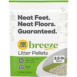 Tidy Cats Cat Litter, Breeze, Litter Pellet Refill, 3.5-Pound Refill, Pack of 6