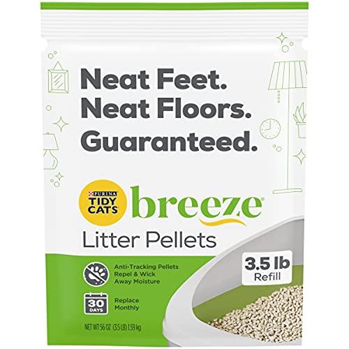 pellet cat litter boxes Purina Tidy Cats Litter Pellets for Litter Box Odor Control, Breeze Refill Litter Pellets - 3.5 lb. Pouch, pack of 6