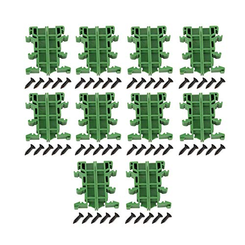 Shuny 10set 35mm PCB DIN C45 Rail Adapter Circuit Board Staffa di montaggio Holder Carrier DIY elettrico,guida DIN e morsettiera a vite