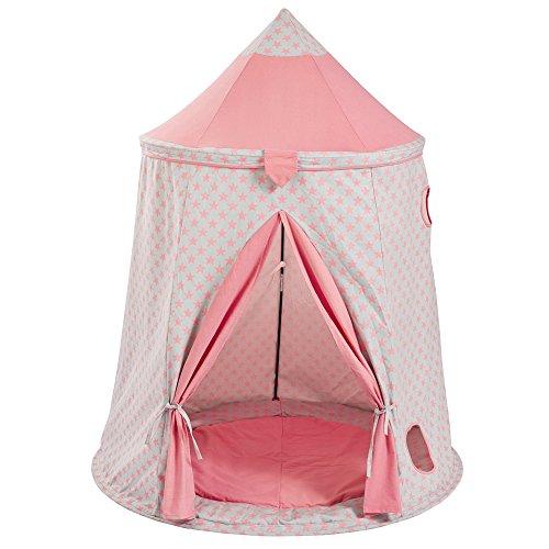 Howa Spielzelt / Spielhaus Sterne rosa / grau incl. Bodenmatte